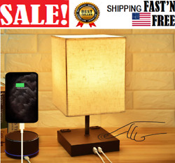 Dimmable 3 Way Touch Control Bedside Lamp Modern Table Lamp with USB Charging $52.99