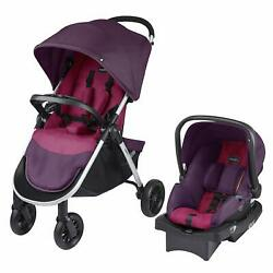 Evenflo Folio Tri Fold All in 1 Reliable Durable Baby Travel System, Blackberry $184.09