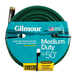 50 ft Outdoor Garden Yard Water Hose 5 8quot; Medium Duty Residential Light Weight $19.47