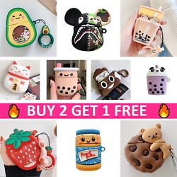 AirPods Cute Animal Food Cartoon Silicone Case Skin Cover for Apple Airpod 12 $8.99