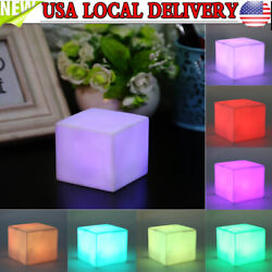 Cube Mood Night Light LED 7 Color Changing Mood Table Lamp Home Party Decoration $7.78