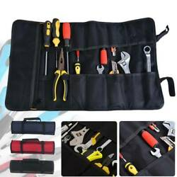 Multi-function Electrician Tool Storage Bag Pocket Organizer Roll Up Pouch Bags $9.99