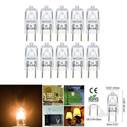 10 Pack 20 Watt 120 Volt Halogen Light Bulbs G8 Base Bi-Pin Shorter 1-38