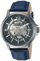 Kenneth Cole New York Men's Automatic Quartz Stainless Steel Case Leather Ban... $74.99