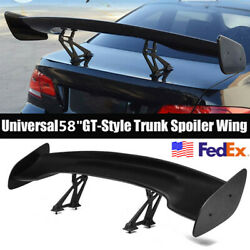 Universal Adjustable GT-style Wing ABS Matte Black 58Inch Trunk Spoiler US Stock $112.00