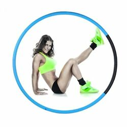 NEW HULA HOOP FITNESS EXERCISE ABS WORKOUT GYM PROFESSIONAL WEIGHTED BLUE  $21.50