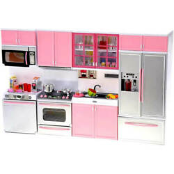 My Modern Kitchen 32 Full Deluxe Kit Battery Operated Toy Doll Kitchen Plays $39.99
