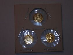 LOT of 3 Gold 1 2 GRAM MINI coins $10.95