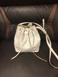 New Barneys New York Small Leather White Tote $29  $29.00