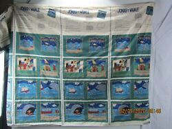 vintage material johna and the whale fabric 1995 not used approx 12#x27;X6#x27; $15.99