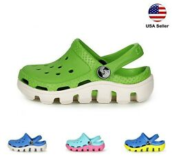 Kids L Croc Style Clogs Boys Girls Toddler Big Kid Garden Slip On Shoe LUXHSTORE $17.99