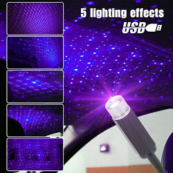 USB Car Interior Atmosphere Starry Sky Lamp Ambient Star Light LED Projector USA $10.82