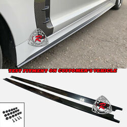 CK Style Add On Side Skirts Extension ABS Plastic Fits 18 21 Kia Stinger $169.99