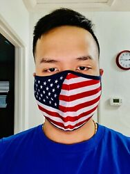 2PC Face Mask Reusable Washable Mouth Cover Unisex Adult - USA American Flag $9.99