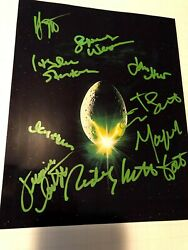 ALIEN movie photo cast signed by all Sigourney Weaver HR Giger Ridley Scott auto $399.99