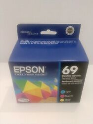 Genuine Epson 69 Color Ink Cartridge 3 Colors Pack Cyan Magenta Yellow  $24.99