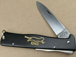 Otter Solingen Mercator Black Cat Carbon Steel Folding K55K Knife Germany L154 $26.98