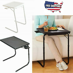 Portable Foldable Table With Cup Holder Adjustable Coffee Tray Lazy Laptop Bed $29.99
