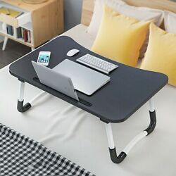 Large Bed Tray Foldable Portable Multifunction Laptop Desk Lazy Laptop Table US $18.99