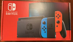 *Ships Today!* Nintendo Switch w Neon Red and Blue Joy-Con V2 *Newest Version!* $389.98