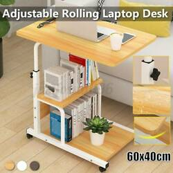 Large Computer Study Laptop Desk Table Adjustable Height Scrollable Home Office $49.99