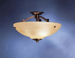 Olde Auburn Semi Flush Mount Ceiling With Marbled Clay Glass $234 $49.99