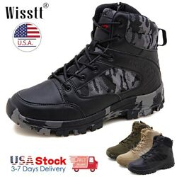 Mens Work Boots Waterproof Military Tactical Army Combat Hiking Ankle Shoes SZ $42.99