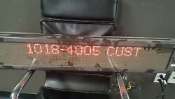Adaptive Micro Systems Alpha 4120C Message Display Sign 4#x27; $175.00