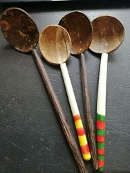 Coconut Shell Spoons Natural Kitchen Tools Equipment Ceylon Free Shipping $5.85