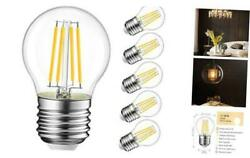 G14 LED Filament Globe Bulb 4.7W(60W Equivalent) LVWIT Dimmable 2700K Warm Whit $22.55