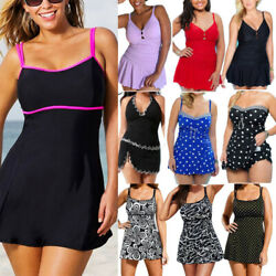 Plus Size Women Swimwear Tankini Bikini Push Up Swimsuit Swimdress Bathing Suit $15.57