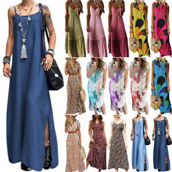 Womens Boho Kaftan Maxi Long Dress Summer Loose Casual Holiday Party Sundress US $14.43