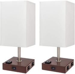 DEEPLITE Bedside Lamps for Bedrooms Set of 2 with USB Port and Outlet $59.61