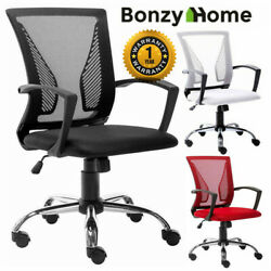Office Chair Executive Home Computer Desk Seat Adjustable Swivel Mesh Task Chair $48.99