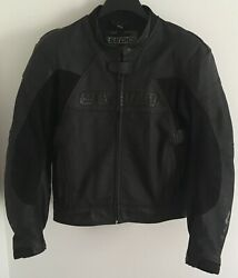 Sedici 16 Motorcycle Racing Jacket With Pads Black Size 44 $99.00