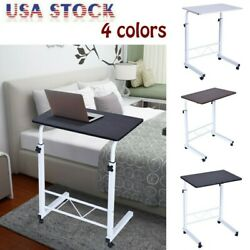 Portable Rolling Sofa Bed Side Table Laptop Desk TV Tray Stand Adjustable Height $35.99