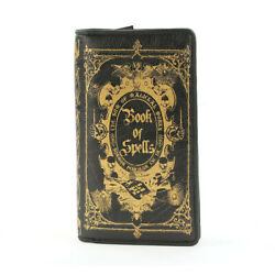 Book of Spells Wallet Womens Witch Pagan Horror Gothic Goth Punk Black Gold Gift $29.99