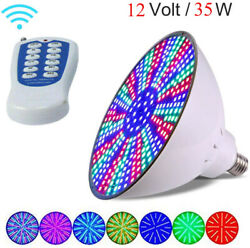 PAR56 Swimming pool LED lighting Light bulbs 12V DC RGB With Remote Controller $39.99