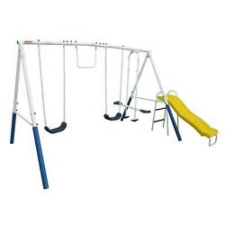 XDP Recreation Blue Ridge Play Outdoor Backyard Playset Kids Swing Set w Slide $199.99