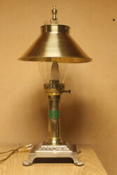 VTG Brass Paris Orient Express Istanbul Table Lamp Adjustable Shade  $49.95