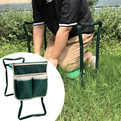 Outdoor Garden Kneeler Soft Heavy Duty Foldable Portable With Tool Pouch Sturdy $8.54