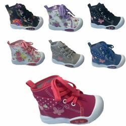 New Adorable Baby Toddler Girls Canvas High Tops Lace Up Shoes Inside Size $13.66