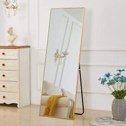 Gold Full Length Mirror Bedroom Floor Mirror Standing Hanging Large Wall Mirror $114.00