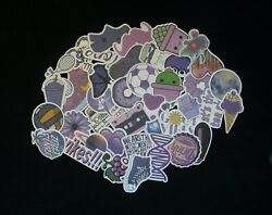 Purple Stickers Lot 10 or 40 pcs Skateboard Scrap booking QUICK SHIP $6.99