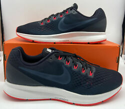 Nike Air Zoom Pegasus 34 Mens Size Running Shoes Navy Blue Red Orbit 880555 014 $69.97