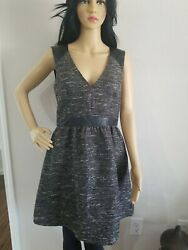 Hamp;M Formal Party Dress Fit Flare Skirt Sleeveless Size 10 $15.35