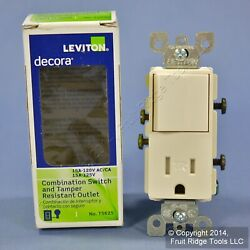 Leviton Light Almond TAMPER RESISTANT Decora Rocker Switch amp; Receptacle T5625 TS