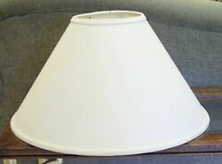 LG Slant CONE Hardback LAMP SHADE Spider Fitter IVORY LINEN 11quot;H $20.00