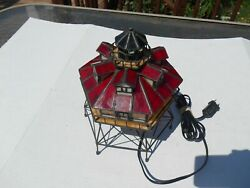 Stained Glass Light House Lamp Thomas Point Shoal $39.99