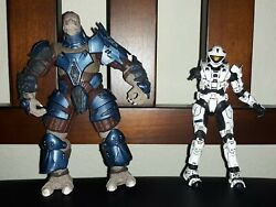 Mcfarlane Halo Reach S1 Wht Spartan Mark V & Brute Stalker Figure lot- preowned  $9.99